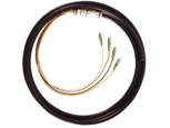 Waterproof fiber pigtail, FC 4 Cores WaterProof fiber pigtail