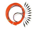 Bundle Fan out Patchcord, ST 12 Core bundle fan out fiber Pigtail